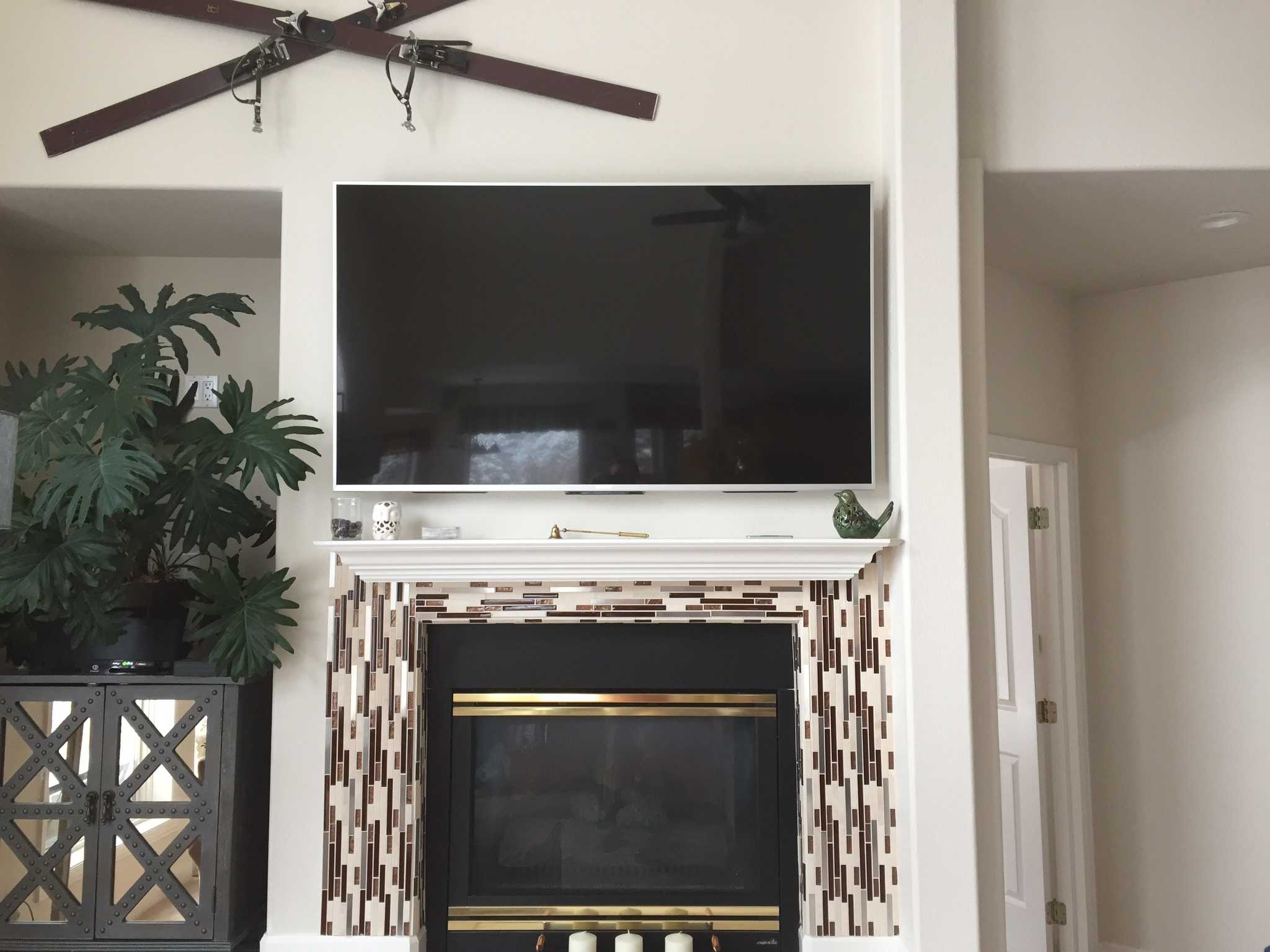 Tv over fireplace installation in colorado springs wire - Tv wall mount above fireplace ...