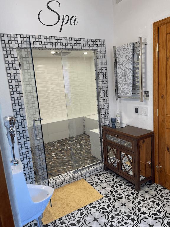 bathroom remodel Colorado Springs tile steam shower closet sink toilet urinalA